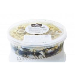 Sardinenröllchen mit oliven. in öl. frisch 1.95 kg