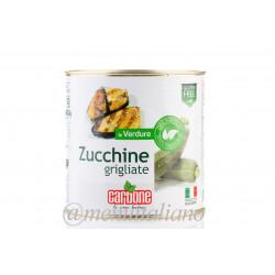 Gegrillte zucchini in sonnenblumenöl 2.4 kg