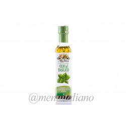 Kondiment aus 98% extra vergine olivenöl. basilikumöl 250 ml