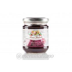 Soße mit roten zwiebeln und balsamico- essig aus modena g.g.a 220 g