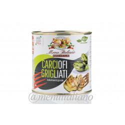 Gegrillte artischocken in sonnenblumenöl 2.4 kg