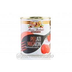 Pelati mignon - geschälte . ganze tomaten. in dattel-tomatensaft 800 g